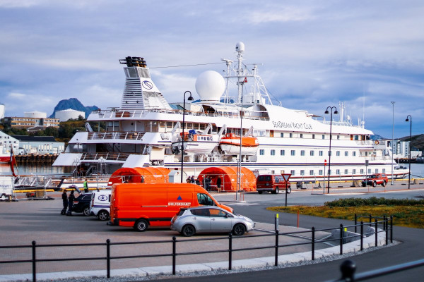 Picture of Seadream 1 - A Cruise Ship forced back to port due to COVID-19